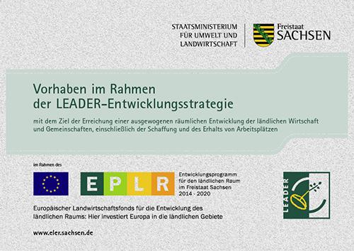 LOGO Förderung im Rahmen des EPLR 2014-2020©Sächsisches Staatsministerium für Umwelt und Landwirtschaft